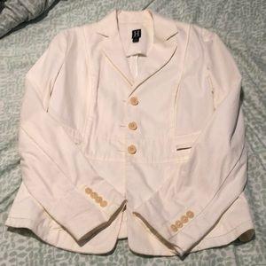 Hilfiger cream blazer suit jacket
